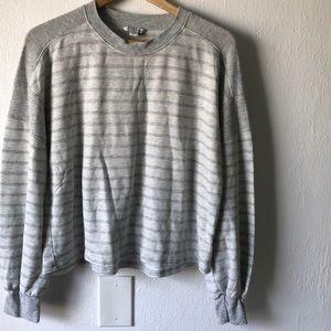 American Eagle Striped Bubble Sleeve Sweater